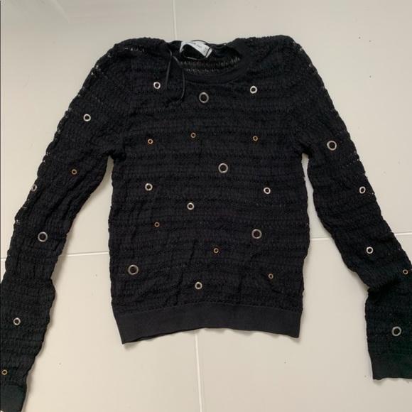 Zara Tops - Zara see through knit black sweater